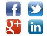 Facebook, Twitter, Google+, LinkedIn